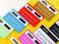 étudiant portable mignon Mini créative calculatrice de carte mince calculatrice solaire papeterie de bureau