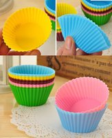 Wholesale silicon cupcakes baking tools baking cups silicone cake molds for baking muffin cups cooking styling