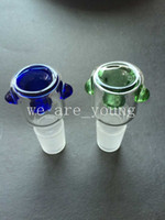 Wholesale 2015 Newest design Glass Bowl with Honeycomb Screen Round mm or mm for Glass bubbler and Ash Catcher Glass smoking Bowl
