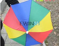 umbrella hat - Multi Colour Novelty Umbrella Hat Brolly for Golf Fishing Hunting Head Cap New and Hot Selling