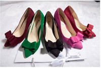 Cheap Bowknot Wedding Shoes 2015 New Arrival High Heel Sweet Pointed Shoes Colored 5cm 7cm 9cm Heel Cheap Christmas Party Wedding Shoes 2014 Hot