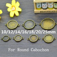Wholesale 10PCS Antique Bronze Connector Base Blanks Setting Round Cabochon mm Double Sided