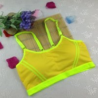 Wholesale Women Lady New Seamless Sports Bra Yoga Fitness Padded Stretch Chest Strap Vest Tops