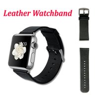 Wholesale High Quality Genuine Leather Lichee Wrist Band For iwatch Watchband Replacement Strap Straps Watchband Strap mm mm Classic black Brow