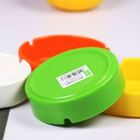 Wholesale pc Melamine Ashtrays Round Shape Colors Office Car Home Ashtray Smokeless Cigarette Smoking Nccessories