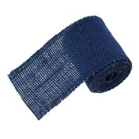 Wholesale Natural Jute Burlap Mesh Ribbon Navy blue cm quot Rolls new