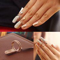 art jewelery - New Jewelery Women Retro Alloy Plum Flower Fake Nail Art Finger Rings