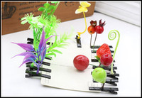 Wholesale 2015 fashion plant hairpins grass hairpin bean sprouts mushroom cherry strawberry hair clips girls hearwear kids gift J090801 DHL