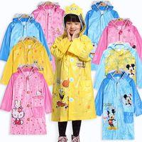 Wholesale 2015 New Kids Rain Coat Children s Raincoat Rainwear Cartoon Animal Poncho Rainsuit Outdoor Rainwear For Children