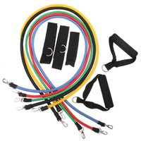Wholesale 200 sets Resistance Training Bands Tube Workout Exercise for Yoga Fashion Body Building Fitness Equipment Tool