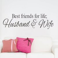best friends wife - Husband Wife Best Friends quotes wall decal decor Bedroom Wall Sticker Home Decor Wedding Decoration Art Mural