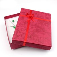 Wholesale 12pcs x12x3cm Red Jewerly Joyeros Box Paper Gift Jewelry Box Set Large Jewelry Boxes And Packaging