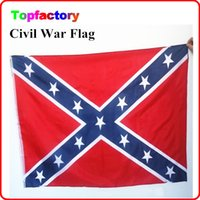 Wholesale Two Sides Printed Flag Confederate Rebel Civil War Flag National Polyester Flag X FT cm cm Size