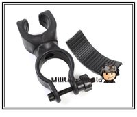 Wholesale 5pcs Outdoor Cycling Torch Flashlight Clip Clamp Tactical Universal Degree Rotation Bicycle Bike Flashlight Mount Holder order lt no