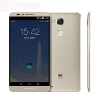Wholesale Original G Huawei Ascend Mate SmartPhone Hisilicon Kirin Octa Core RAM GB ROM G Dual SIM FDD LTE WCDMA GSM Free DHL