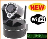 Wholesale DHL Wireless IP Camera WiFi IR Nightvision P T Audio Camera Security Surveillance S86 Not Foscam
