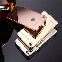 Wholesale Hybrid Metal bumper Plating mirror For huawei p8 p8 lite Case For huawei mate mate Cases
