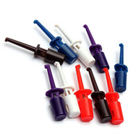 Wholesale 2014 New Mini Single Copper Hooks Testing Probe Connecting Cable Wire I C Clips CM Colors