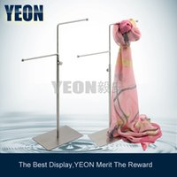 Wholesale YEON Adjustable height tie rack holder scarf display rack jewelry holder display bulk order available SH004M