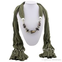 Wholesale circle scarf Chiffon scarves pendants Scarf necklace jewelry pendant Ladies scarves Mixing Soft fabric colors winter scarf christams
