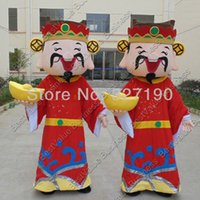 Wholesale New Year God of fortune mascot costume Adult Size