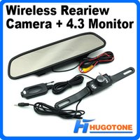 "Cheap New Arrival 4.3"" Car Monitor Wireless Reversing Camera 2.4G Wireless Car Video Rearview Back up Camera+Parking Assistance Rearview Kits"