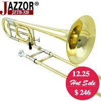 Neuf JAZZOR JZTB-320 Tenor trombone, professionnel B plat / F instruments à vent en laiton avec embouchure trombone, étui, gants