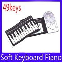 Precio de Piano del teclado suave 49-Flexible Digital rueda para arriba el teclado suave electrónico del teclado 49 llaves 2pcs / lot liberan el envío