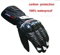 waterproof gloves - New winter carbon protection motorcycle gloves waterproof luva motocicleta motorbike motocross gloves guantes moto racing M XXL