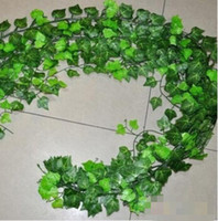 artificial green plants - 15 off Hot Selling Artificial Ivy Leaf Garland Plants Vine Fake Foliage Flowers Home Decor