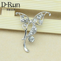 beautiful sapphire - 2016 new fashion beautiful rhinestone butterfly brooch alloy brooch wild clothing holding flowers stock offer
