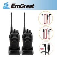 bf unit - Units Portable BaoFeng BF S UHF MHz Walkie Talkie Two Way Radio USB Program Cable For R Inear Earpiece