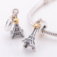 black friday - Christmas black friday Fit bracelet Diy gift to best friends forever Eiffel Tower charm fine jewelry silver charms pendant CB047