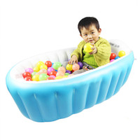 Wholesale Promotion Summer High Quality Portable Baby Kid Toddler Inflatable Bathtub Newborn Thick Green Bath Tub CM JF0004 Smileseller