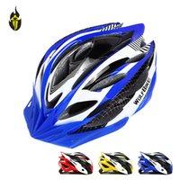 Wholesale High Quality Unicase Bicycle PVC Helmet Safety Cycling Helmet Bike Head Protect Custom Bicycle Helmets MTB Off Road WOLFBIKE