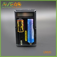 Wholesale Original Nitecore UM20 Digicharger LCD Display Battery Charger Universal Nitecore Charger with usb cable DHL Free Ship