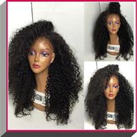 blonde human hair wigs - 100 virgin Brazilian full lace human hair wigs natural human fluffy kinly curly hair wigs glueless full lace front wigs with baby hair