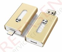 Wholesale For iPhone U disk GB GB GB GB Flash U disk external storage for PC USB iPhone PIN lightning uses