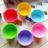 cake - 12pcs Round shape Silicone Muffin Cases Cake Cupcake Liner Baking Mold