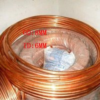 Wholesale 8x1mm Red Copper pipe T2 pure copper Air Conditioner Refrigerator tube meter long