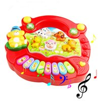 Wholesale 1PC Animal Farm Music Piano Baby Developmental Music Toys Educational Toy Kids Gift Wen