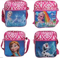 al por mayor chicas bolsa de regalo de cumpleaños-Los bolsos de escuela congelados de los bolsos para las muchachas embroma los morrales de la escuela del regalo de cumpleaños del regalo de la Navidad de los niños el envío libre
