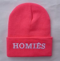 Wholesale Pink Woman HOMIES beanies hats men knittied caps knitting cap hats Unisex beanie hats many quality streetwear brands women hats store HF