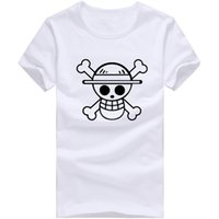 Al por mayor-manera barata Camisetas Hombre One Piece Luffy Sombrero de Paja camiseta de algodón normal O Cuello Tops T-shirt Anime Camiseta de manga corta