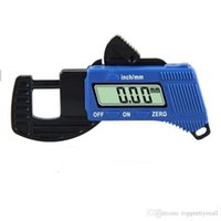 Wholesale 0 to mm Precise Digital Thickness Caliper Gauge Carbon Fiber Meter Tester Micrometer Width Measuring Instruments A3