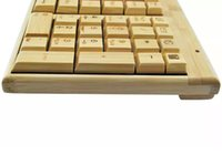 bamboo wireless combos - New Design Bamboo Wireless keyboard Mouse combos Nature Anti static PC Multimedia Function wood Keypad teclado Free DHL