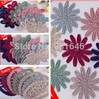 Wholesale 2015 New designs mixed DIY hairbow clothes accessories lace Motif lace applique trim Embroidery Lace patch garments decors