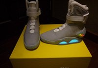 easter led lights - With Original Box Tick AIR MAG LED Mens Mag back to the future Basketball Shoes Mens mcfly lighting Luxury Grey Boots size