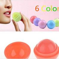 Wholesale 300pcs Ball Lip Balm Lipstick Organic Ingredients Lip Protector Sweet Taste Fruit Embellish Lip Ball Makeup Lipstick Gloss