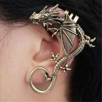 Wholesale European And American Pop Punk Earring Personality No Exaggeration Dragon Pierced Ear Clip